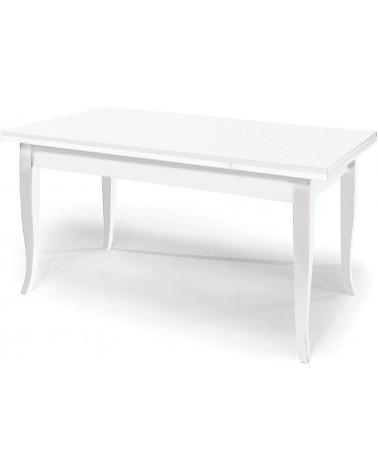 Tavolo classico rettangolare allungabile con gambe a sciabola - Senza RIQUADRO - T13 - 2 - Tavoli