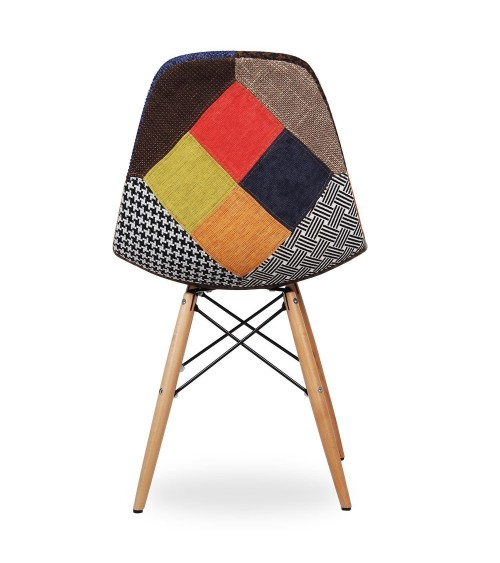 Sedia replica Eames DSW patchwork - T674 - 5 - Moderne