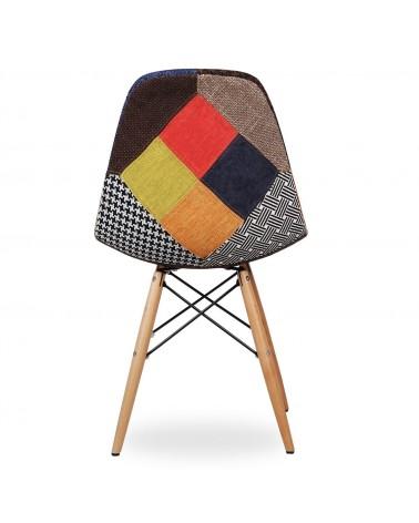 Sedia replica Eames DSW patchwork - T674 - 5 - Moderne