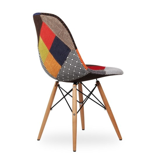 Sedia replica Eames DSW patchwork - T674 - 4 - Moderne