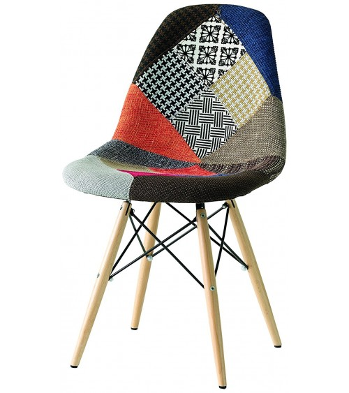 Sedia replica Eames DSW patchwork - T674 - 2 - Moderne